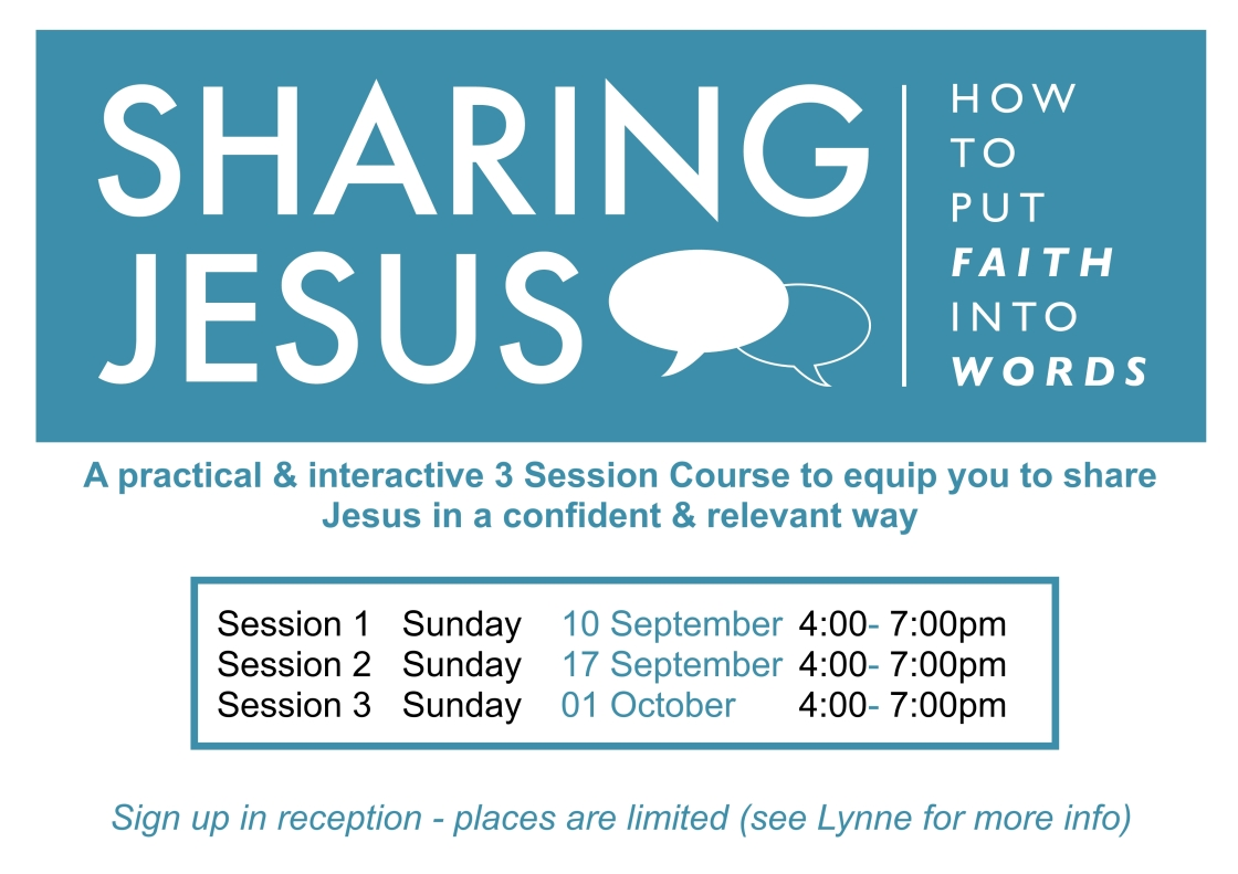 Sharing Jesus Course Poster